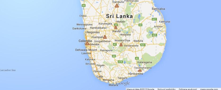 Srí Lanka - dlouhý okruh