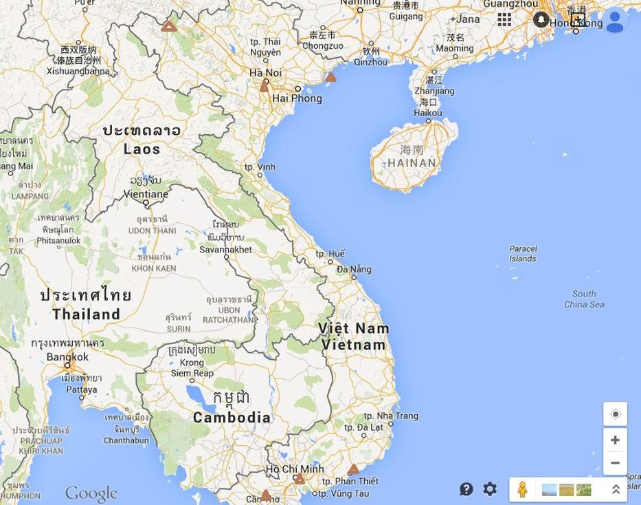 Vietnam mapa sever a jih 14 dní