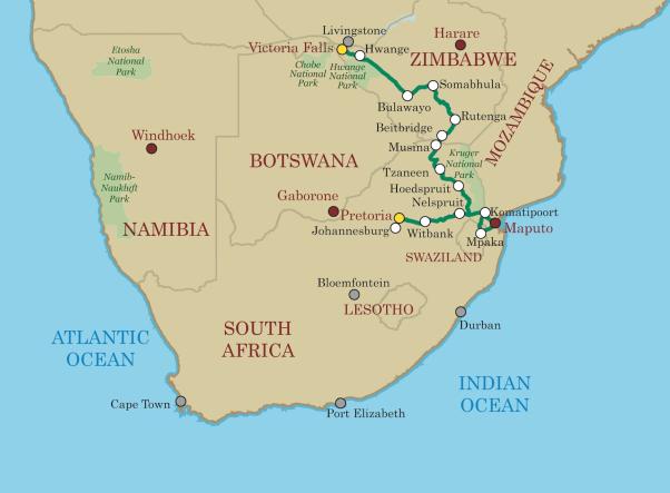 Shongololo Jihovýchodní Afrika