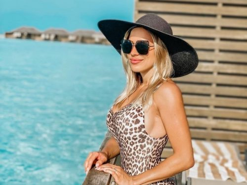 Eva Perkausová na Maledivách
